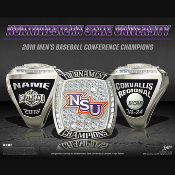 Northwestern State University Men's Baseball 2018 Conference Championship Ring