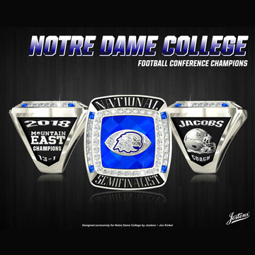 Notre Dame College Men's Football 2018 Mountain East Championship Ring