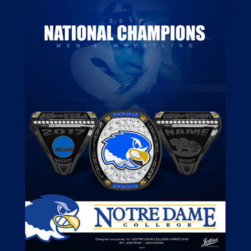 Notre Dame College Men's Wrestling 2017 National Championship Ring