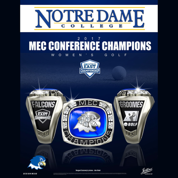 Notre Dame College Women's Golf 2017 Mountain East Championship Ring