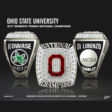 Ohio State University Women's Tennis 2017 National Championship Ring