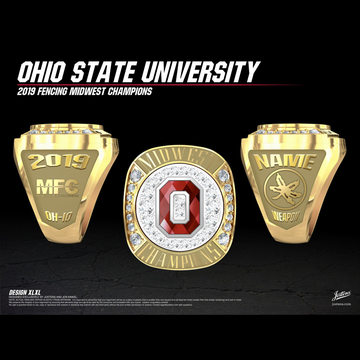 Ohio State University Coed Fencing 2019 Midwest Championship Ring