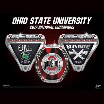 Ohio State University Coed Rifle 2017 National Championship Ring