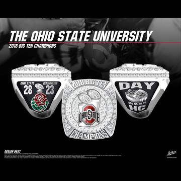 Ohio State University Men's Football 2018 Big Ten Championship Ring