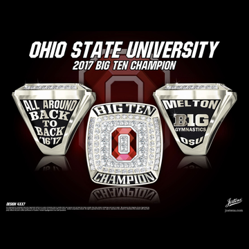 Ohio State University Men's Gymnastics 2017 Big Ten Championship Ring