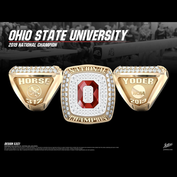 Ohio State University Men's Gymnastics 2019 National Championship Ring