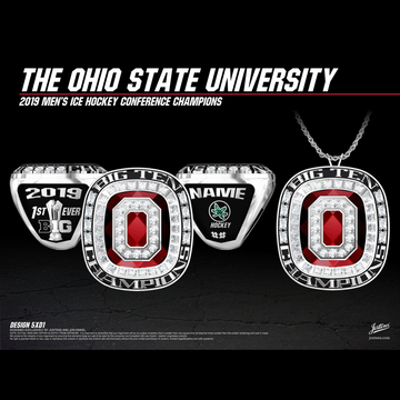 Ohio State University Men's Ice Hockey 2019 Big Ten Championship Ring