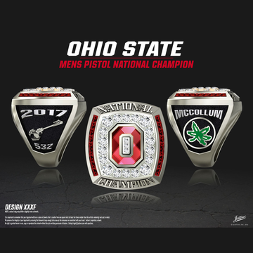 Ohio State University Men's Pistol 2017 National Championship Ring