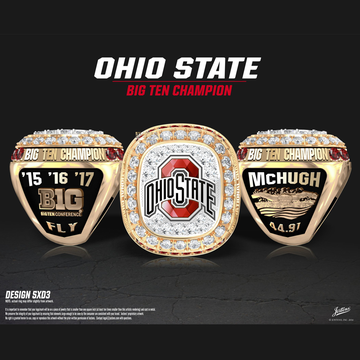 Ohio State University Men's Swimming & Diving 2017 Big Ten Championship Ring