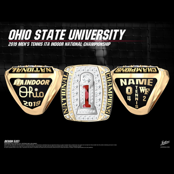 Ohio State University Men's Tennis 2019 National Championship Ring
