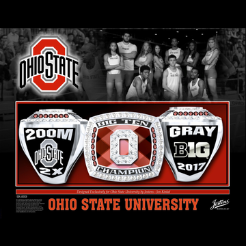 Ohio State University Men's Track & Field 2017 Big Ten Championship Ring