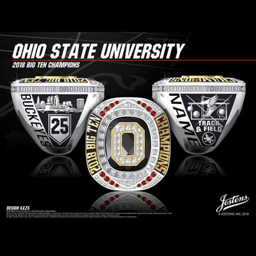 Ohio State University Men's Track & Field 2018 Big Ten Championship Ring