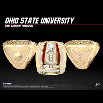Ohio State University Men's Track & Field 2018 National Championship Ring