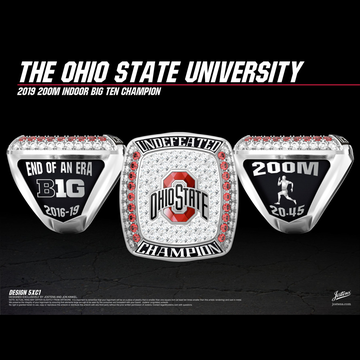 Ohio State University Men's Track & Field 2019 Big Ten Championship Ring