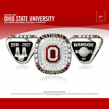 Ohio State University Men's Volleyball 2017 National Championship Ring