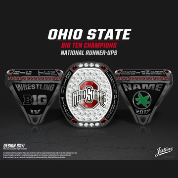 Ohio State University Men's Wrestling 2017 Big Ten Championship Ring