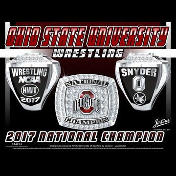Ohio State University Men's Wrestling 2017 National Championship Ring