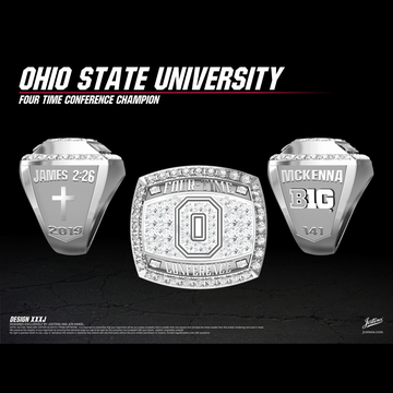 Ohio State University Men's Wrestling 2019 Big Ten Championship Ring