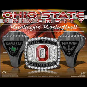 Ohio State University Women's Basketball 2017 Big Ten Championship Ring