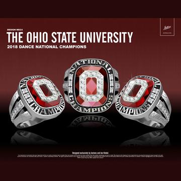 Ohio State University Women's Dance 2018 National Championship Ring