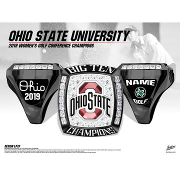 Ohio State University Women's Golf 2019 Big Ten Championship Ring