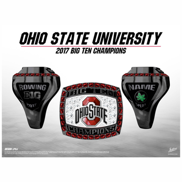 Ohio State University Women's Rowing 2017 Big Ten Championship Ring
