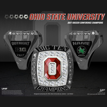 Ohio State University Women's Soccer 2017 Big Ten Championship Ring