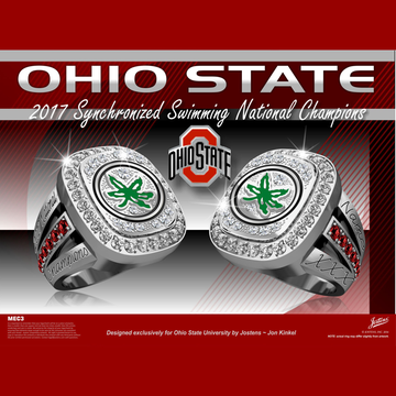 Ohio State University Women's Synchronized Swimming 2017 National Championship Ring