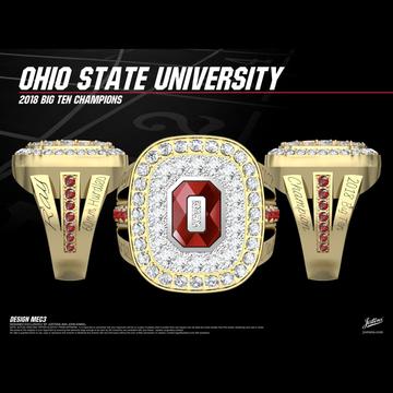 Ohio State University Women's Track & Field 2018 Big Ten Championship Ring