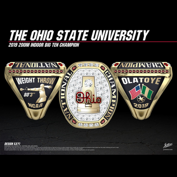 Ohio State University Women's Track & Field 2019 National Championship Ring