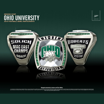 Ohio University Men's Football 2016 MAC East Championship Ring
