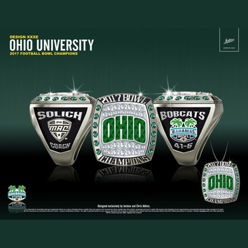 Ohio University Men's Football 2017 Bahamas Bowl Championship Ring