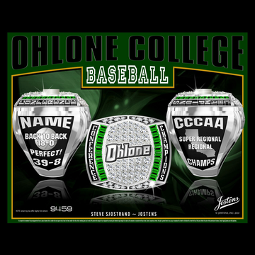 Ohlone College Men's Baseball 2018 Conference Championship Ring
