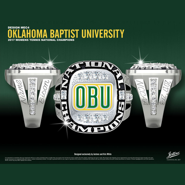 Oklahoma Baptist University Women's Tennis 2017 National Championship Ring