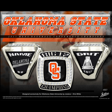 Oklahoma State University Men's Baseball 2017 Big 12 Championship Ring