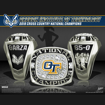Oregon Institute of Technology Women's Cross Country 2018 National Championship Ring