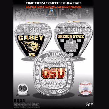 Oregon State University Men's Baseball 2018 National Championship Ring