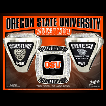 Oregon State University Men's Wrestling 2016 Pac-12 Championship Ring