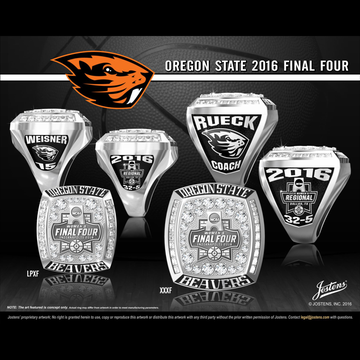 Oregon State University Women's Basketball 2016 Final Four Championship Ring