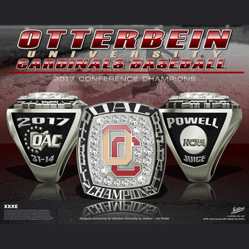 Otterbein University Men's Baseball 2017 Conference Championship Ring