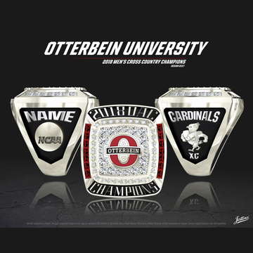 Otterbein University Men's Cross Country 2018 OAC Championship Ring