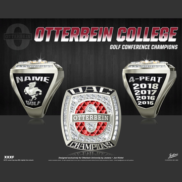 Otterbein University Men's Golf 2018 OAC Championship Ring