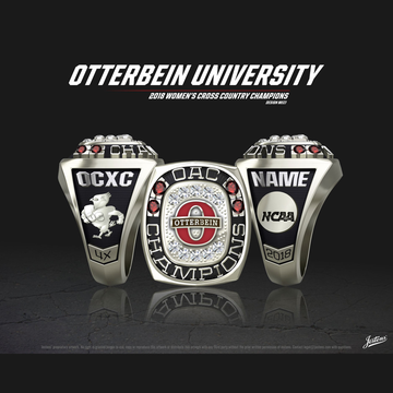 Otterbein University Women's Cross Country 2018 OAC Championship Ring