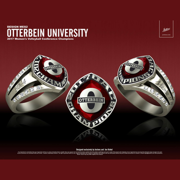 Otterbein University Women's Volleyball 2017 OAC Championship Ring
