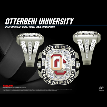Otterbein University Women's Volleyball 2018 OAC Championship Ring