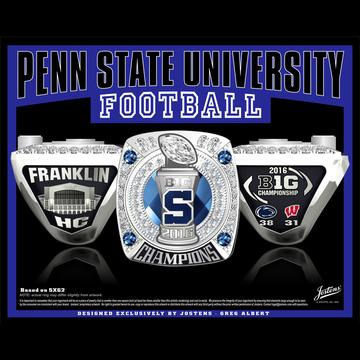 Penn State University Men's Football 2016 Big Ten Championship Ring