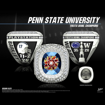 Penn State University Men's Football 2017 Fiesta Bowl Championship Ring