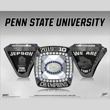 Penn State University Men's Gymnastics 2019 Big Ten Championship Ring