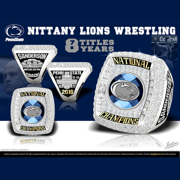 Penn State University Men's Wrestling 2018 National Championship Ring