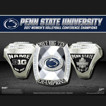 Penn State University Women's Volleyball 2017 Big Ten Championship Ring